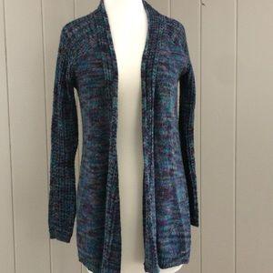 4/$15 Relativity Long Cardigan Sweater Blue Purple
